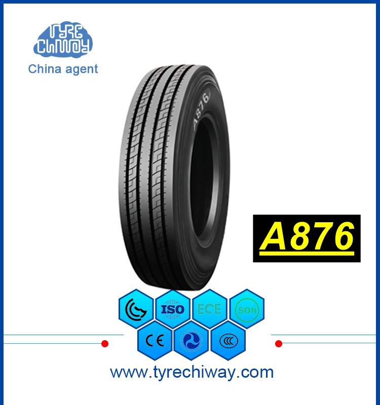 295 75 R22.5 A876 3 line lateral stability truck tyre with wider footprint