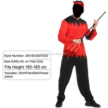 Halloween Costumes Prince of Darkness Devil Rose-team Includes Shirt Pant Belt and Headpiece