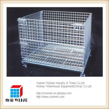 collapsible stacking metal storage binsmetal storage basket for sale