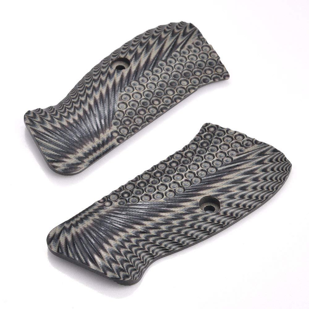 Guuun CZ 75 Compact Grips G10 Material OPS Texture fit CZ P-01, Canik 55, P100,C100,T100, PCR, CZ 75 D, CZ 75 85 Compact