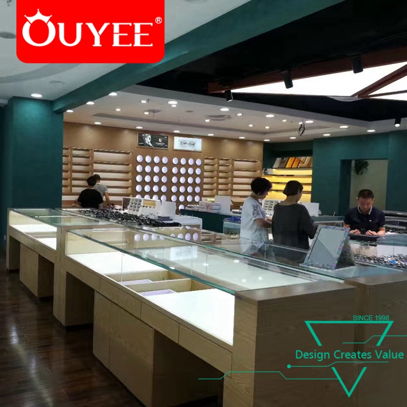 a4d5dedc47 Optical Shop Showroom Furniture Spectacle Interior Design Retail Wooden Eyeglass  Display Cabinet