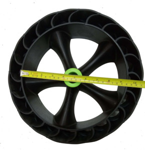 "High quality 12"" 300mm Kayak cart wheels Rubber beach wheels Tank wheels for kayak carts trolley"