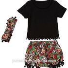 2017 Newest High quality kids clothing set boutique girls outfits with headband