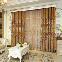 Online Store Ready Made Curtain Cloth, China Luxury Curtains Designs Embroidered Rideaux Dubai/