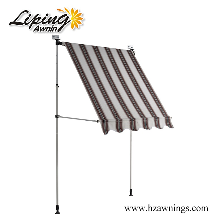 Freestanding Manual Steel Balcony Awning