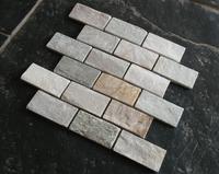 honey gold multicolor slate subway natural stone wall mosaics tiles for wall/floor