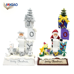 Wholesale polyresin 2018 Santa Claus new products home decor christmas ornaments