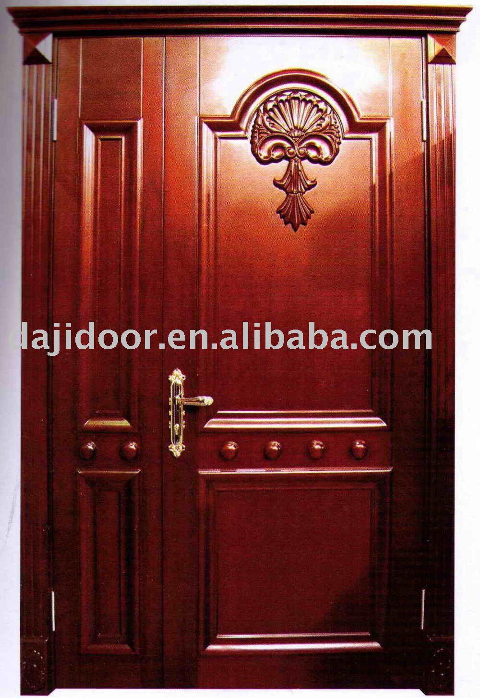 Puertas principales de madera maciza de lujo casa for Puertas entrada madera maciza precios