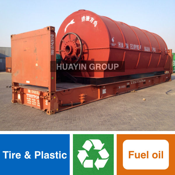 Hot Sale Environmental Waste Tire/Plastic Recycling To Fuel Oil