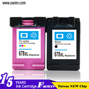 Hicor refillable ink cartridge top consumable products chip reset to full level ink cartridge 678 for HP