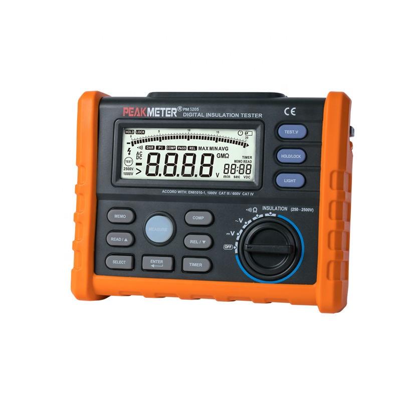 Hotsale hoge nauwkeurige 2500 V isolatieweerstandstester megger MS5205 met PI en DAR