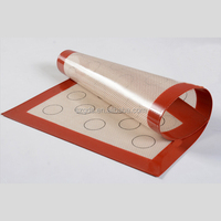 Factory silicone mat with custom printing 100% Food Grade Non-Stick Microwave Oven Silicone macaron Baking Mat
