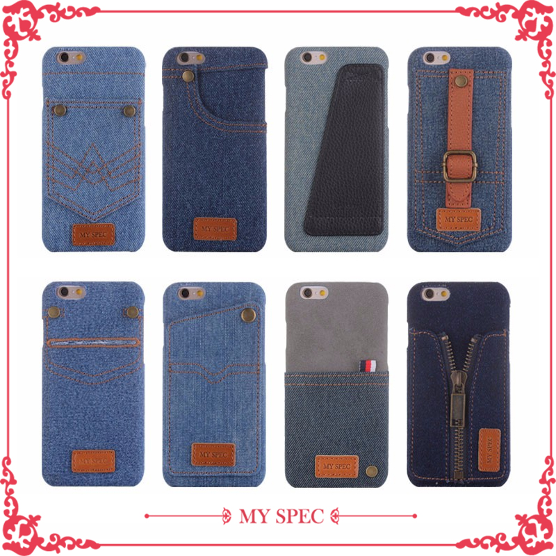 2017 new design fashion denim jeans case phone