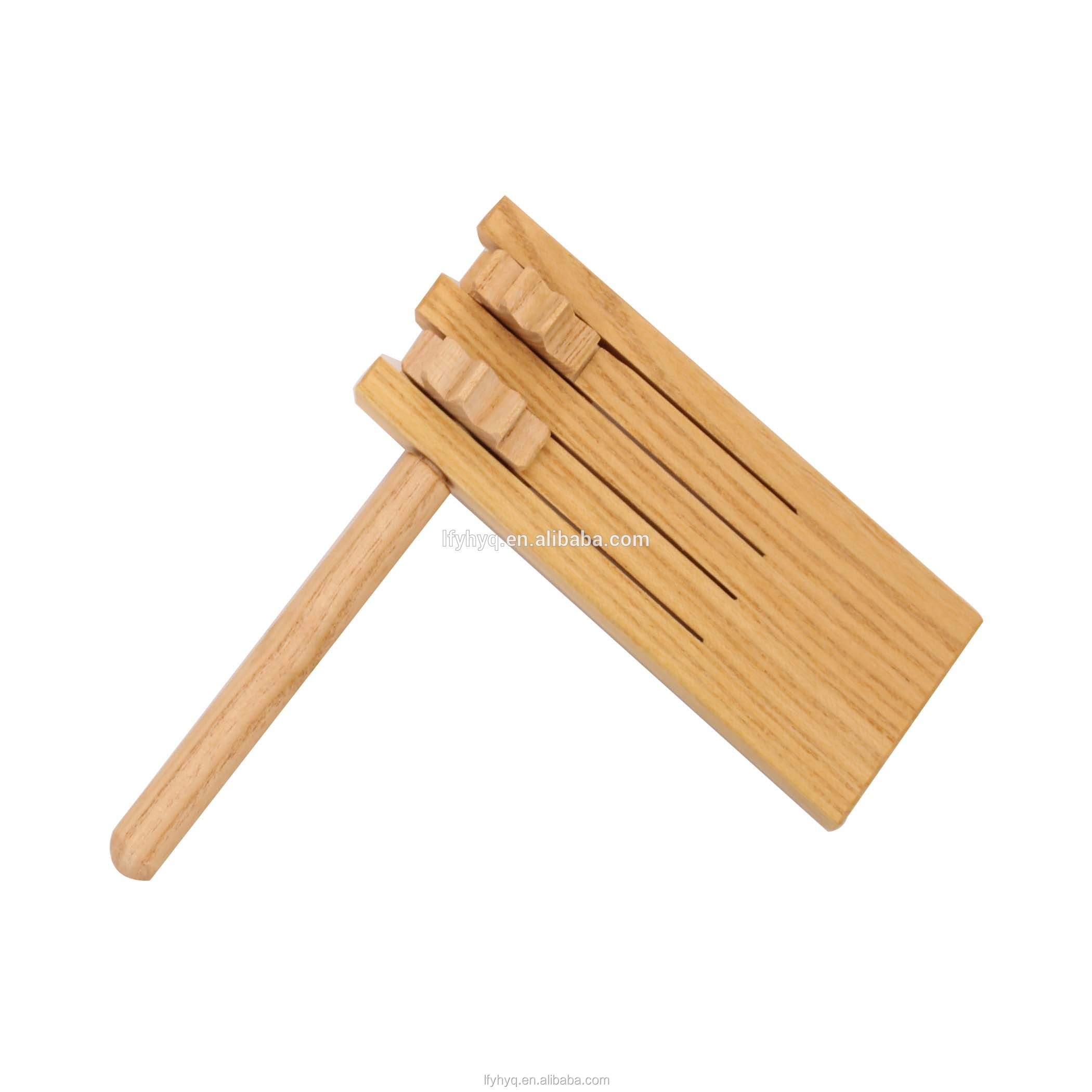 Education instrument wood ratchet musical accessories