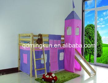 Letti Con Scivolo Per Bambini.Moda Legno Massello Letto A Castello Per Bambini Per Bambini Letto