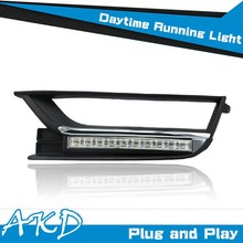 AKD Car Styling for VW Passat B7 DRL 2014 Passat B7 LED DRL US Version Daytime Running Light Good Quality LED Fog lamp