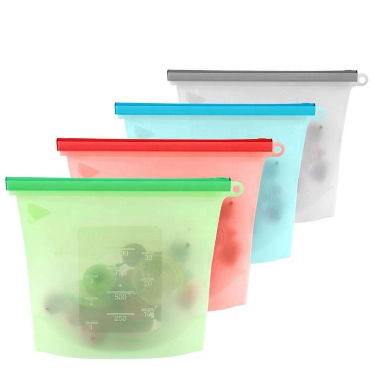 Alibaba.com / Reusable Refrigerator Silicone Fresh Sealing Food Storage Bag