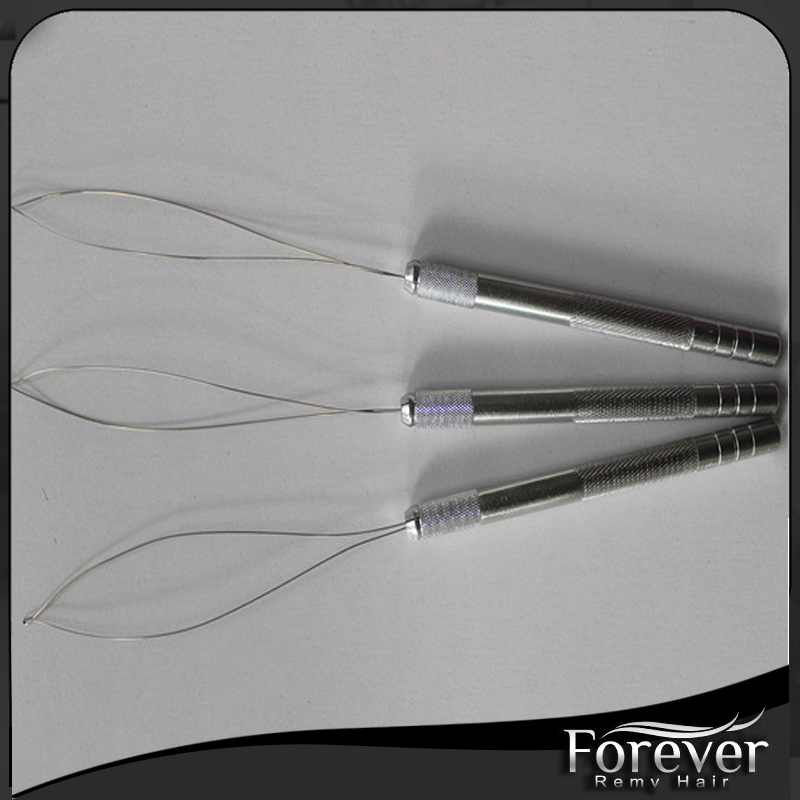 High quality professional salon micro loop extension hair weft hook needle