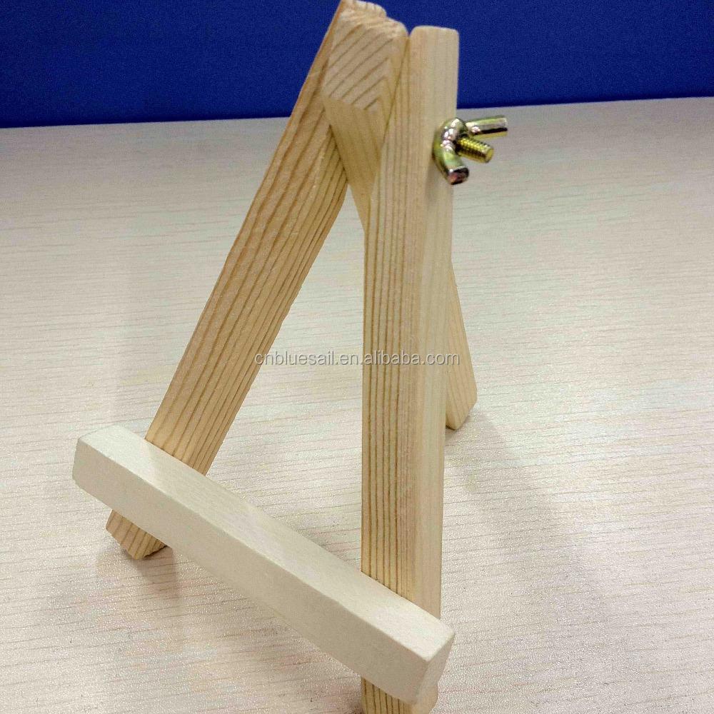 support en bois pour cadre tr pied jambe affichage trois pattes stand pour t l phone portable. Black Bedroom Furniture Sets. Home Design Ideas