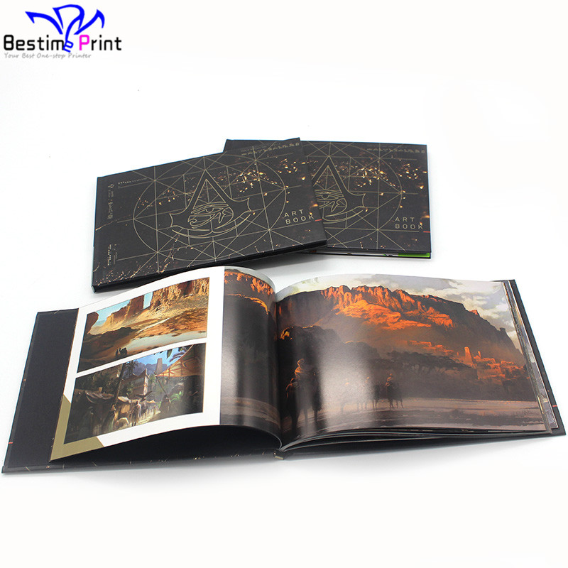Print Hardcover Booklet Full Color Custom Horizontal Book Landscape Book