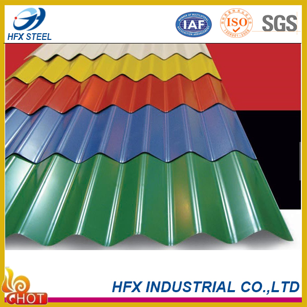 factory directly supply color coated steel zinc roofing sheet online shopping