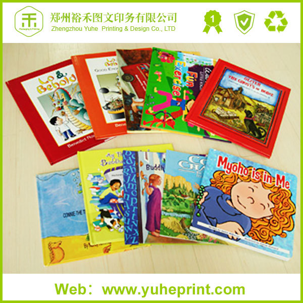 Custom kids english story book printer die-cut full color hardcover puzzle book printing