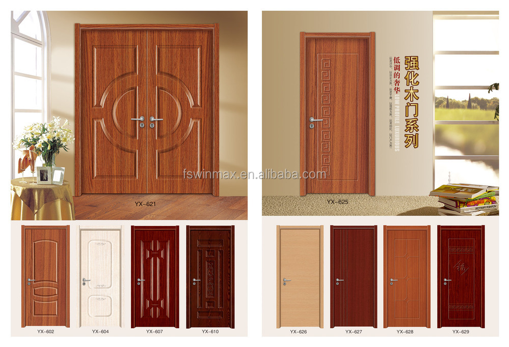Modern Bedroom Wooden Door Designs yx-628 modern hdf moulded melamine skin wooden bedroom door design