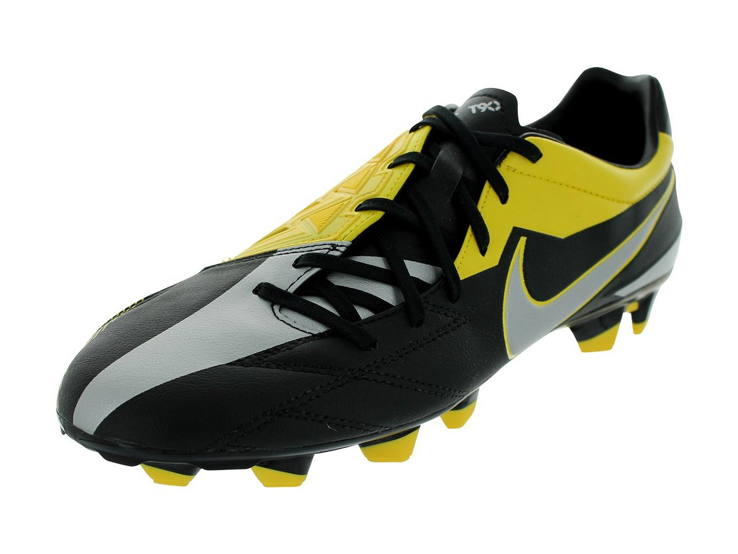 Nike T90 Strike IV FG Black Yellow Silver Mens Soccer Cleats Shoes 472562-007