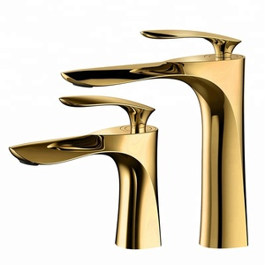 Kedah sanitary faucets good quality european style bathroom brass basin hot and cold mixer gold faucets