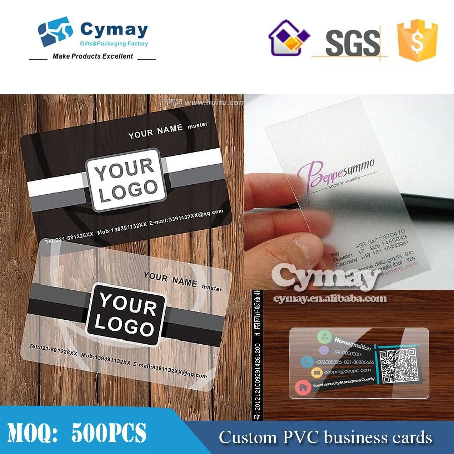 PVC Transparent En Plastique Carte Haute Qualit De Visite Gros
