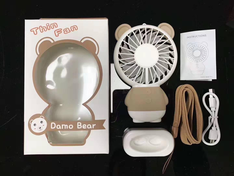Bear Rabbit Handy Mini Portable Fan Outdoor Small Handheld USB Rechargeable Battery Electric Cooling Mini Fan