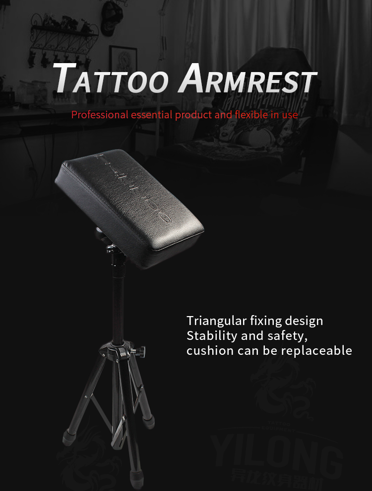 Yilong  Professional Essential Stainless Steel Tattoo Chair  Comfortable Tattoo Ajustable tattoo armrest
