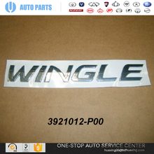 3921012-P00 LOGO-WINGLE GREAT WALL WINGLE 5 AUTO SPARE PARTS CHINESE CAR GUANGZHOU AUTO PARTS 2010 hyundai accent