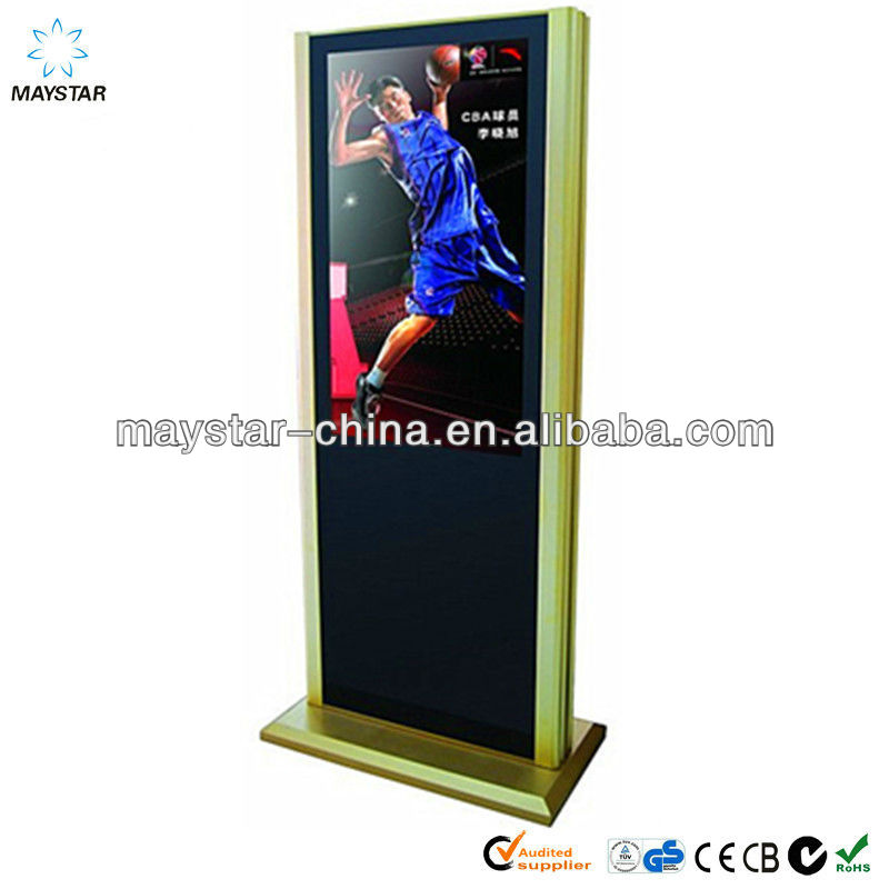 "46"" best price 2 years product warranty Floor STANDING full HD wifi/3g wireless real hdd media player"
