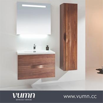 2017 Newest Design Modern Bathroom Furniture 32 Inch Walnut Cabinet Vanities