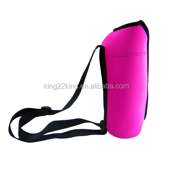 Neoprene water bottle carrier, insulated water bottle holder