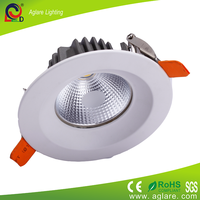 aglare dimmable 7w 3 inch recessed Led downlight