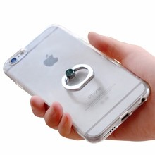 Mobile Phone Case TPU Cover Case with Metal Ring Kickstand for cell phone