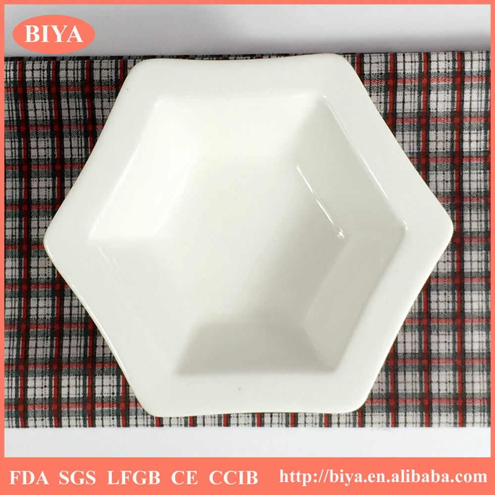 star dish strengthen durable porcelain personalized star shape dish or ceramics six sides or six angles dish