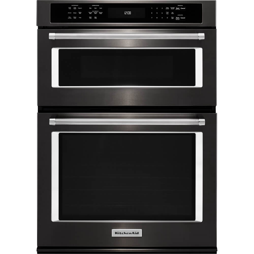 Get Quotations · Kitchen Aid KOCE500EBS KOCE500EBS 30 Black Stainless  Convection Wall Oven/Microwave Combination