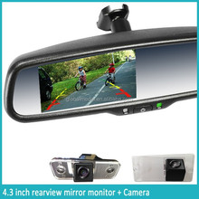 ak-043la 4.3inch special rearview mirror with backup camera rearview mirror with bluetooth backup camera