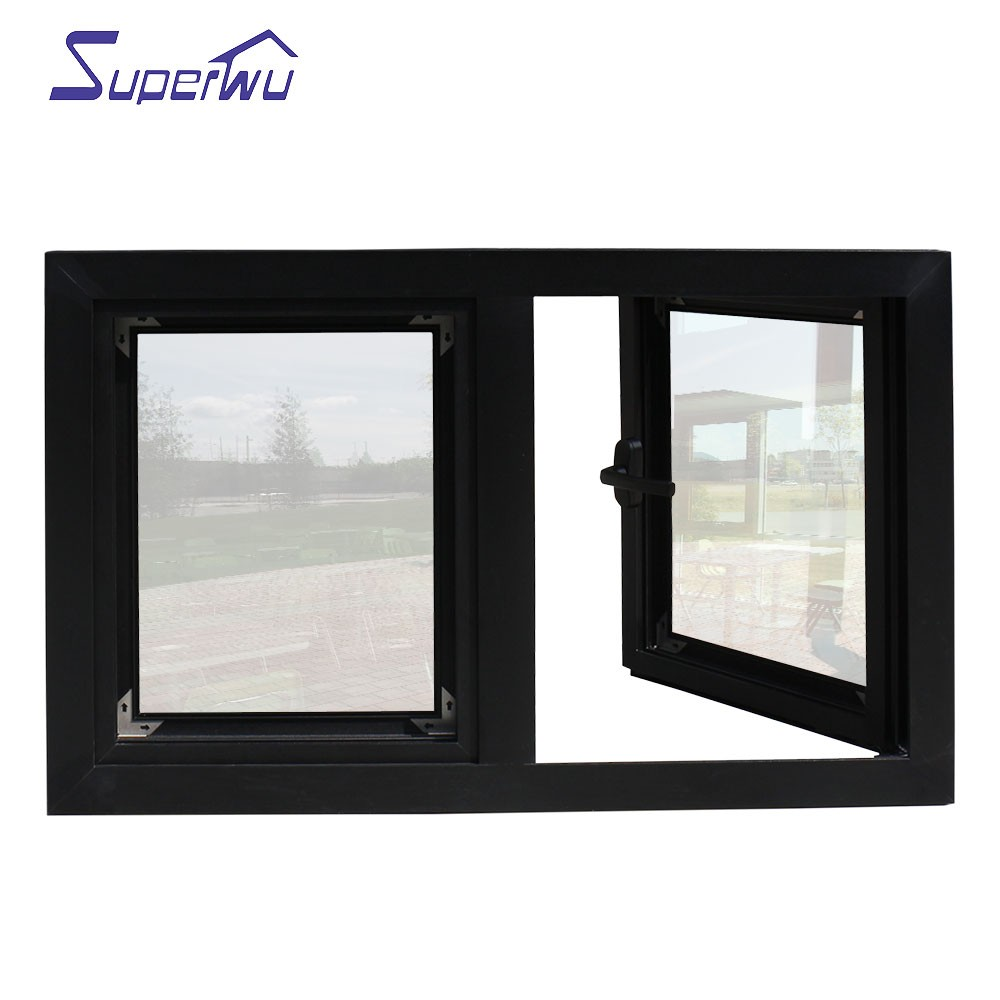 Meet florida code double glazed aluminium windows german style casement windows