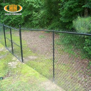 Black Powder Coated Chain Link Fencing, Black Powder Coated