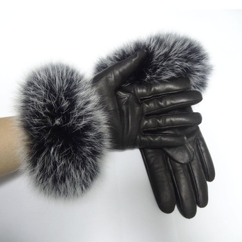 2018 hot sale sheepskin ladies wool linen fox fur leather gloves, View fur  leather gloves, Bilberry Product Details from Henan Bering Industries Co ,
