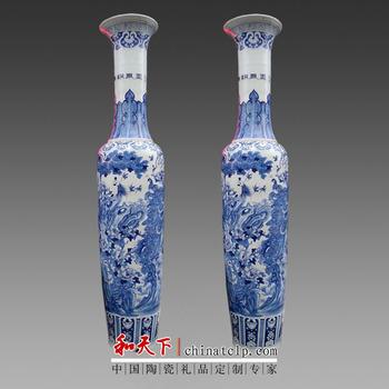 2 Meter High Chinese Handpainted Porcelain Large Decorative Floor