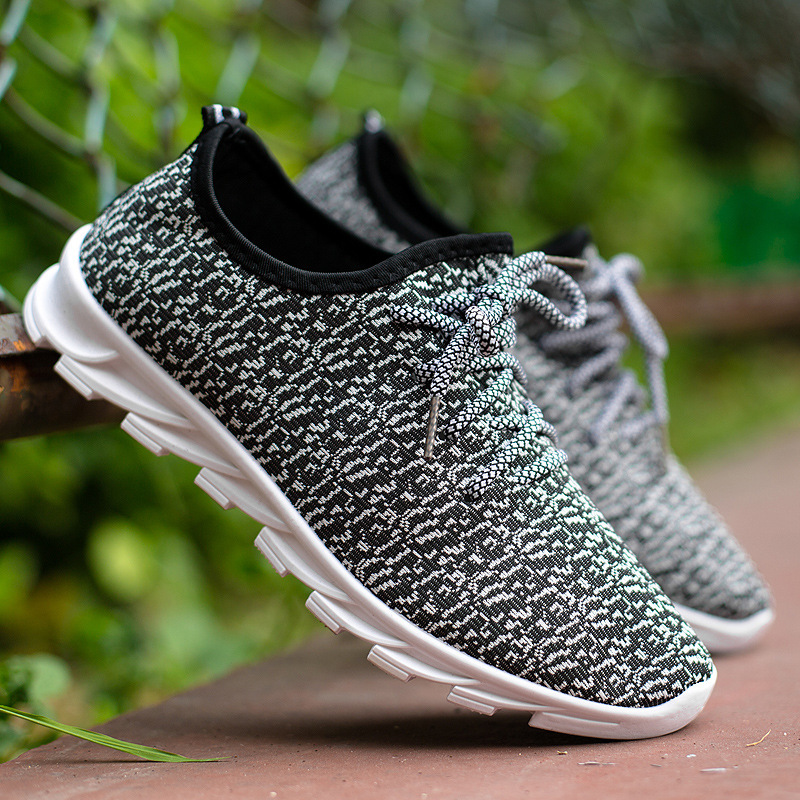Nuevos Zapatos Deportivos Para Hombre En Primavera Y Otoño,Zapatos Bajos Para Correr A Mano,Zapatos De Hoja De Punto Transpirables Buy Zapatos