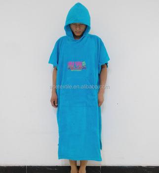 Borduren Op Badstof.100 Katoenen Badstof Handdoek Stof Blauw Kleur Logo Borduren