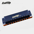 Easttop10 Holes Blues Harmonica Harmonica Diatonic T008S Musical Instruments Mouth Ogan Professional Playing Blues Harmonica
