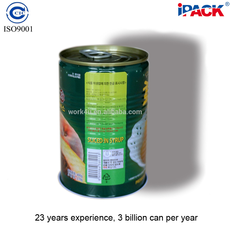Empty food tin cans for canned food packing