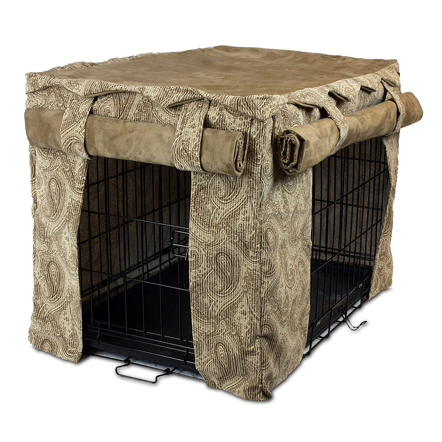 Snoozer Cabana Pet Crate Cover, 48 by 30 by 33-Inch, XX-Large, Sicilly Bone/Peat